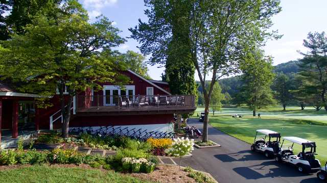 View of the clubhouse at Woodstock Country Club