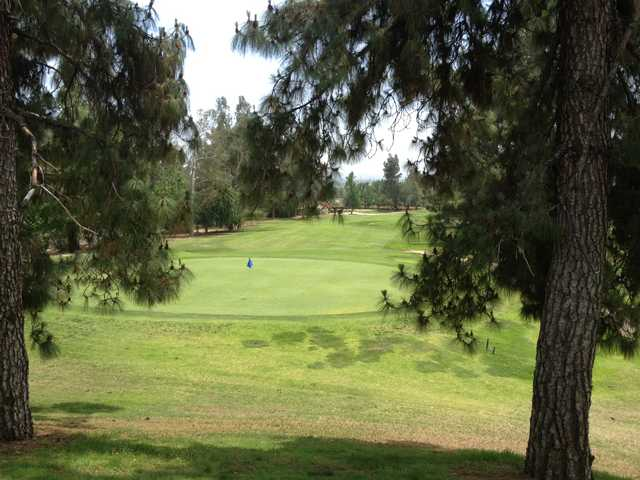 A view of the 7th hole at Eaton Canyon Golf Course.