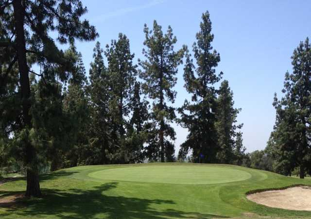 A view of the 1st green at Eaton Canyon Golf Course.