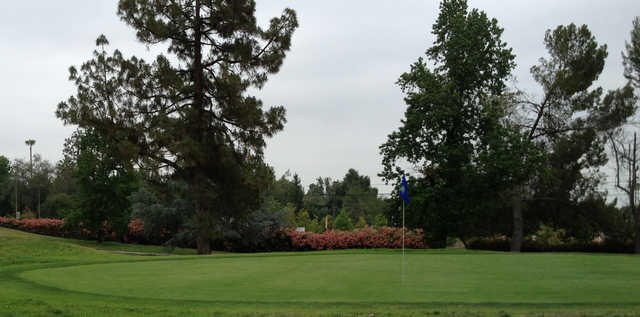 A view of the 3rd hole at Eaton Canyon Golf Course.