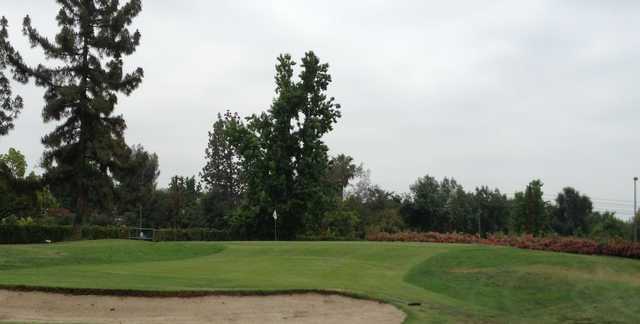 A view of hole #2 at Eaton Canyon Golf Course.