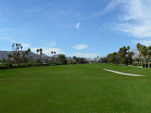 A view of the 8th fairway at North Course from Indian Canyons Golf Resort.