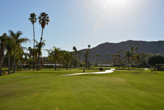 A view of hole #16 at North Course from Indian Canyons Golf Resort.
