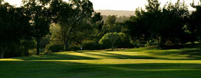 A view of a hole at Jurupa Hills Country Club.