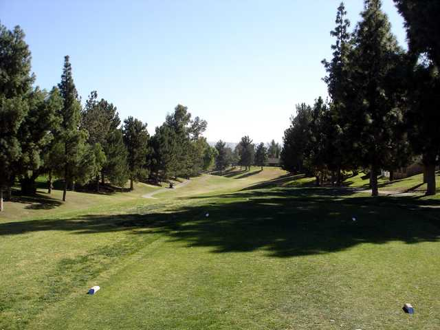 A view from a tee at Jurupa Hills Country Club.