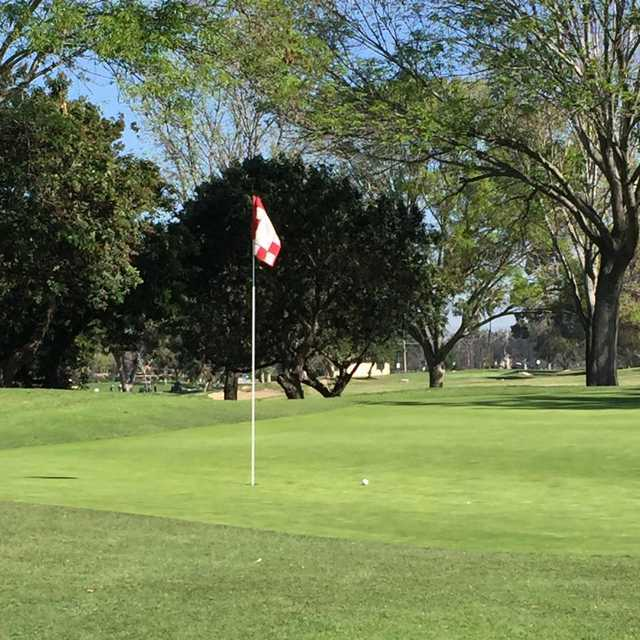 A view of a hole at Costa Mesa Golf & Country Club.