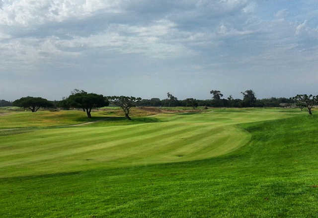 A view of a fairway at Olivas Links Golf Course.
