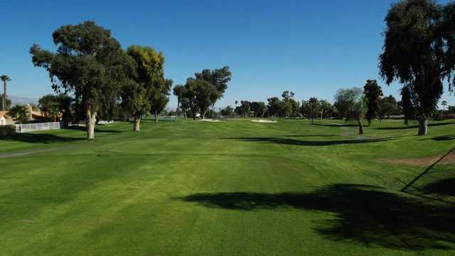 A view from a tee at Palm Desert Country Club.