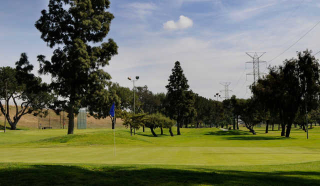 A view of a green at Pico Rivera Municipal Golf Course.
