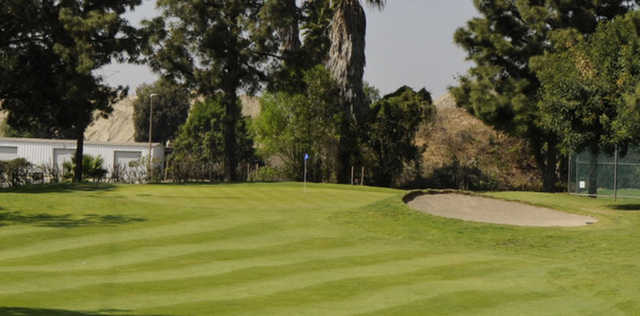 A view of a well protected hole at Pico Rivera Municipal Golf Course.