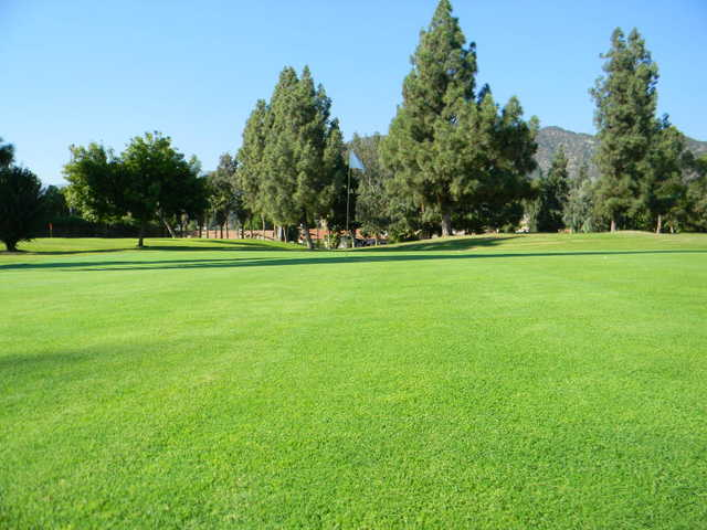 A view of the 9th green at Rancho Duarte Golf Club.