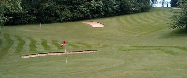 View of the 8th and 17th greens at Roundwood Hall Golf Club