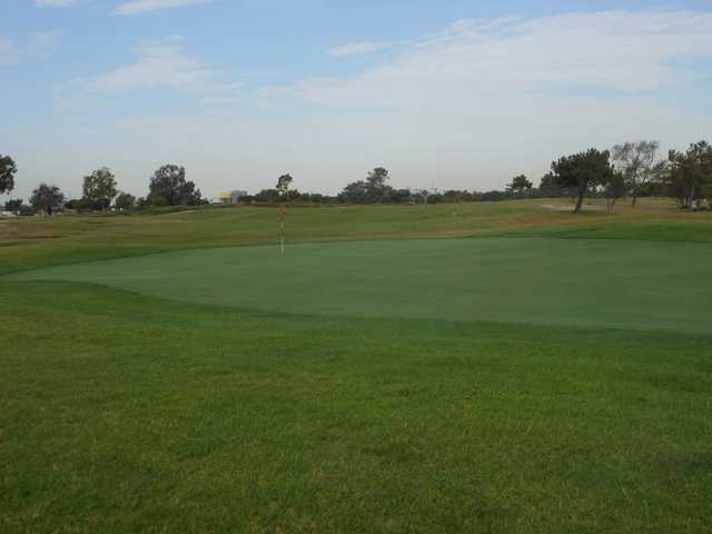 A view of the 2nd green from The Links at Victoria Golf Course.