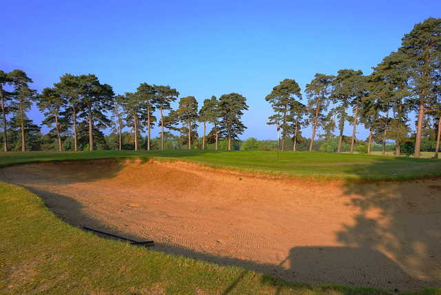 View of the 8th bunker at Carswell Golf & Country Club