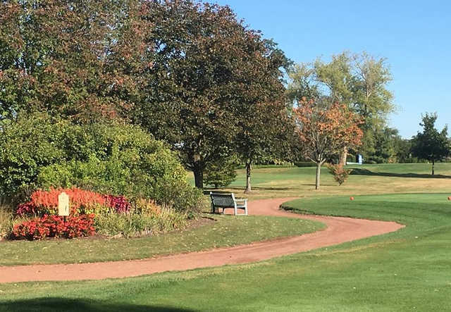A fall day view from Twin Lakes Golf Course.