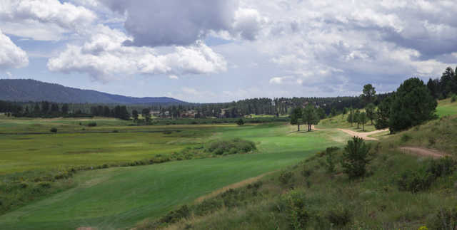 A view of the 15th hole at Shining Mountain Golf Club.