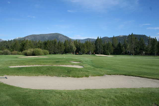 A view of hole #7 at Lake Tahoe Golf Course.