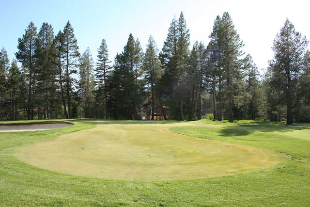 A view of the 2nd green at Lake Tahoe Golf Course.
