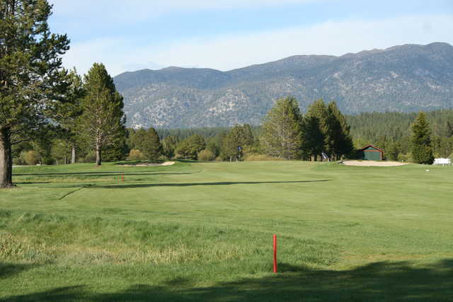 A view from the 8th fairway at Lake Tahoe Golf Course.