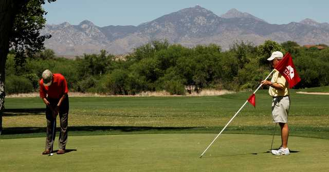 A view of a green at Tubac Golf Resort.