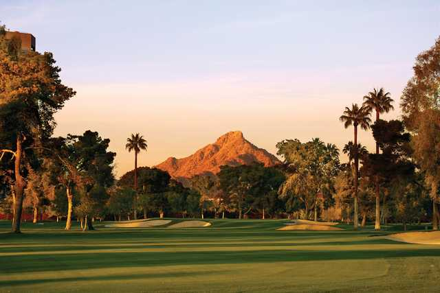 A view from a fairway at Phoenix Country Club.