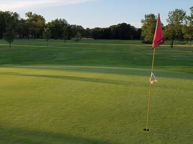 View from a green at Assiniboine Golf Club