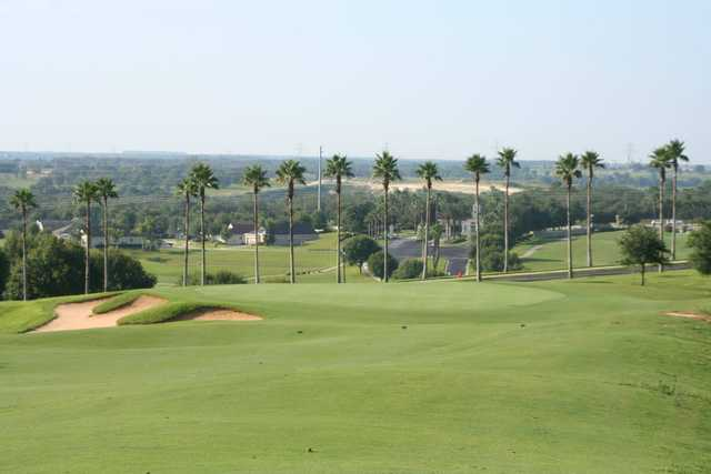A view of a green at Sanctuary Ridge Golf Club.