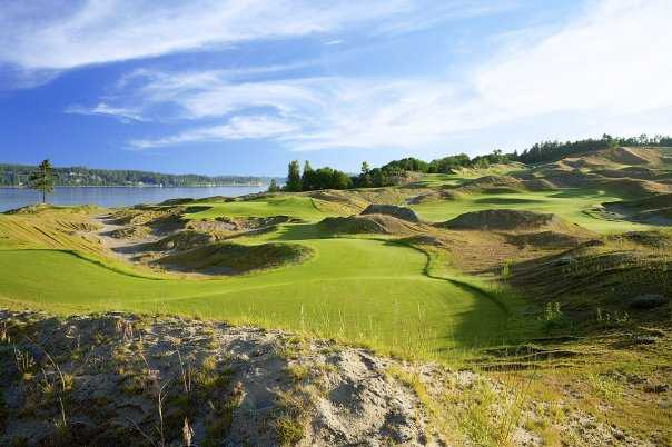A view green #17 at Chambers Bay. (Aidan Bradley)