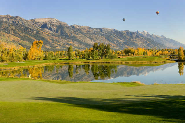 A view of hole #12 at Teton Pines Country Club & Resort.