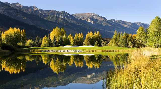 An early fall day view from Teton Pines Country Club & Resort.