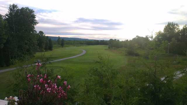 A view of a tee at Cranberry Golf Course