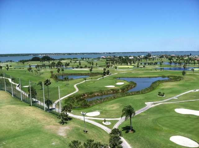 Aerial view from Cocoa Beach Country Club