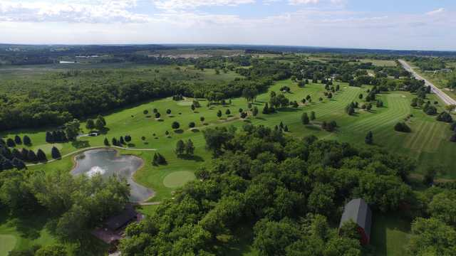 Aerial view from Songbird Hills Golf Club.