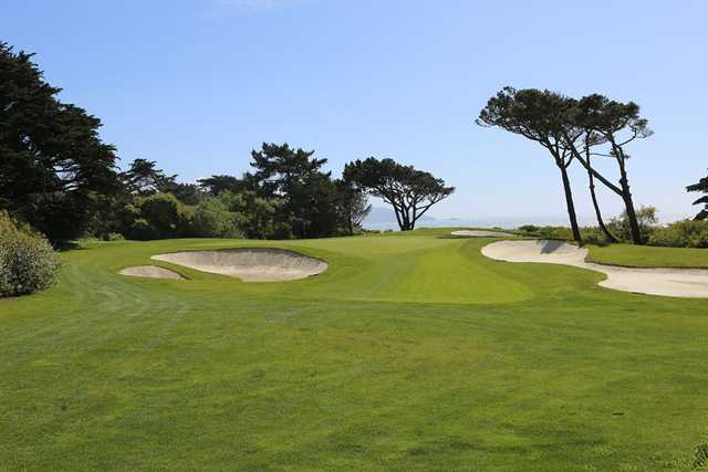 A view of hole #1 from the Cliffs at Olympic Club (Danielle Fernandez).