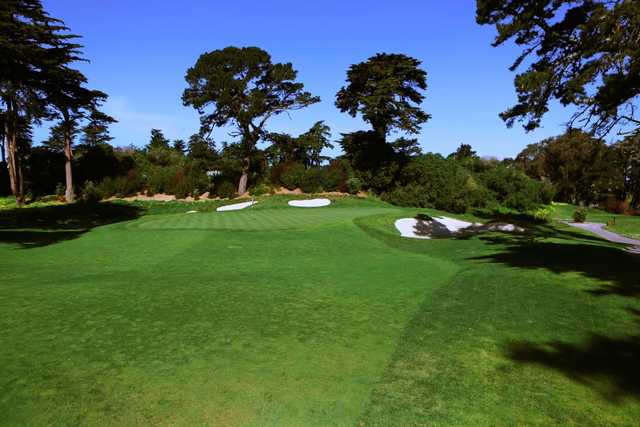 A view of the 3rd green from the Ocean at Olympic Club (Danielle Fernandez).
