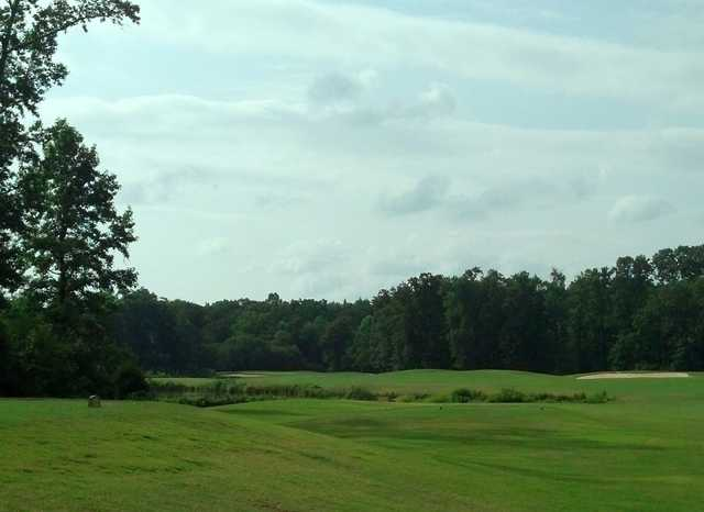 A view of a tee at Lee's Hill Golf Club.