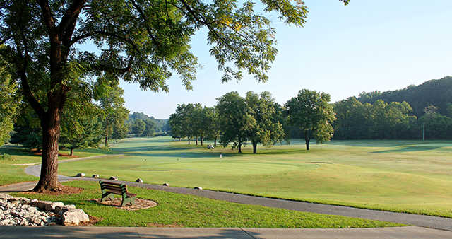 A view of a hole at Kingswood Course from Bella Vista Country Club.