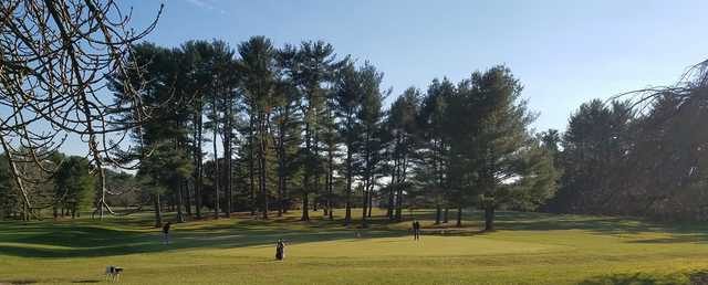 A view of the practice putting green at Pine Ridge Golf Course.