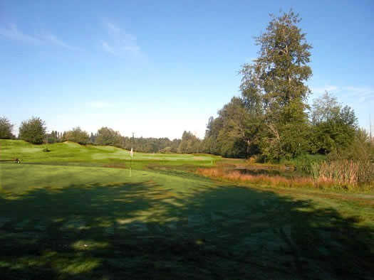 A view of fairway #4 at Tall Timber Golf Course