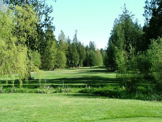 A view of the 16th fairway at Tall Timber Golf Course