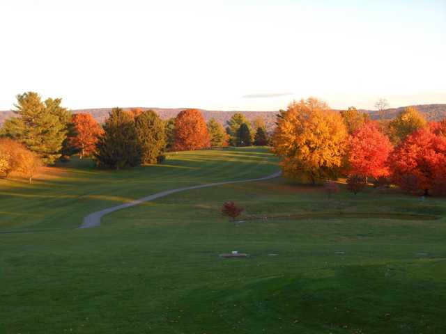 A fall day view from Shenandoah Valley Golf Club.