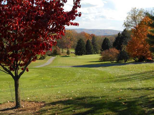 A view of a hole at Shenandoah Valley Golf Club.