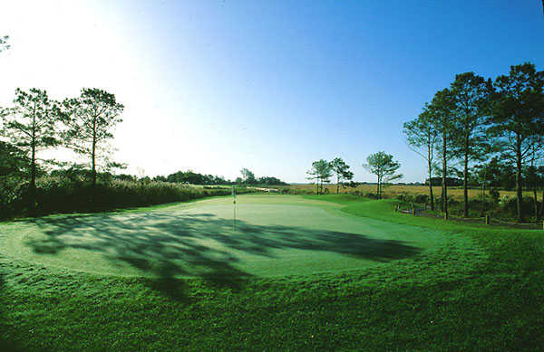 A view of hole #18 at Eagle's Landing