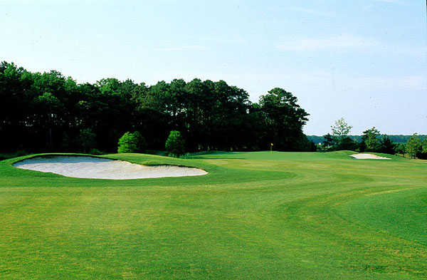 A view of the 2nd green at Eagle's Landing