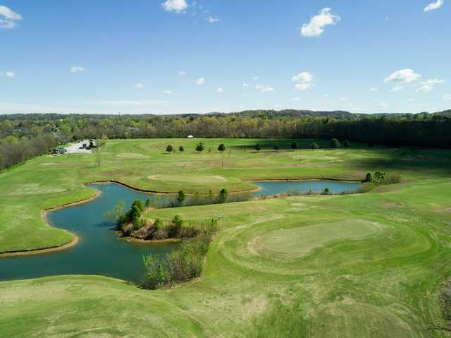 Aerial view from The River Course at Harpeth Valley Golf Center