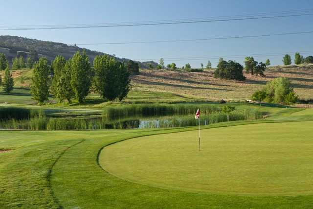 A view of a hole at Empire Ranch Golf Club.