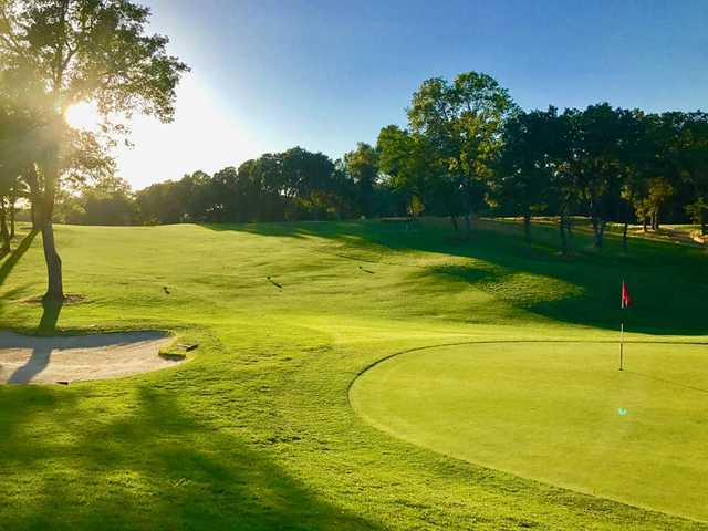 A view of a green at Turkey Creek Golf Club.