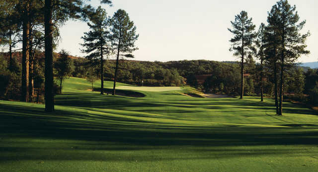 A view of a well protected hole from the Golf Club at Chaparral Pines.