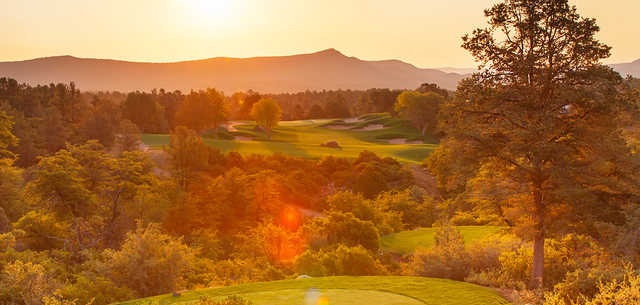 A sunny day view from the Golf Club at Chaparral Pines.