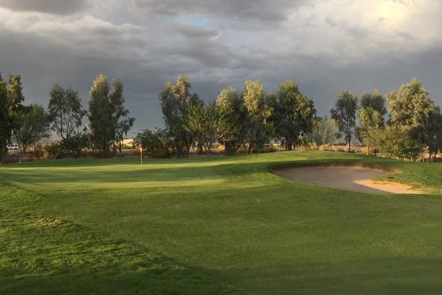 A view of the 7th hole from Coyote Wash Golf Course.